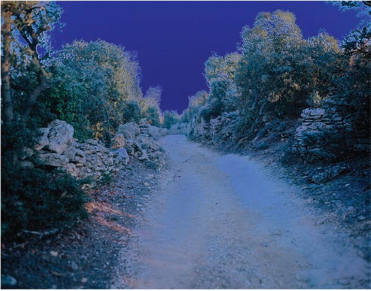Catherine Yass, Sleep (chemin), Ilfotrans transparency, lightbox, 86 x 68 x 12.5cm, edition 2 of 3 + 2APs, 2008