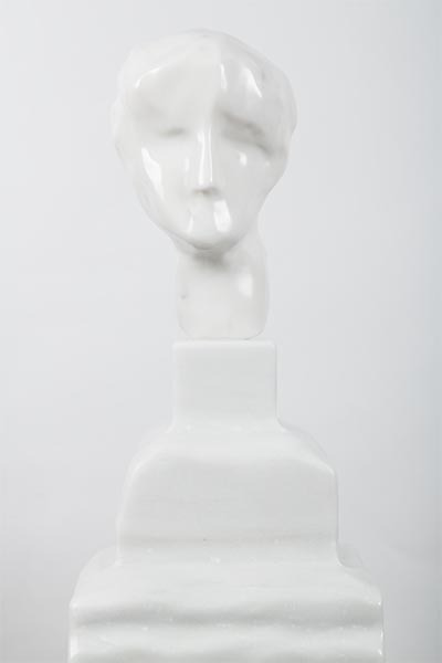 Daniel Silver, Untitled, marble, 72 x 30 x 30cm, 2014. A new work generously donated by the artist.