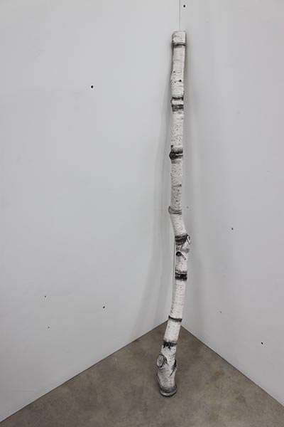 Tania Kovats, Limb, acrylic compound and ink, 145 x 9cm, 2013. Work kindly donated by the artist.
