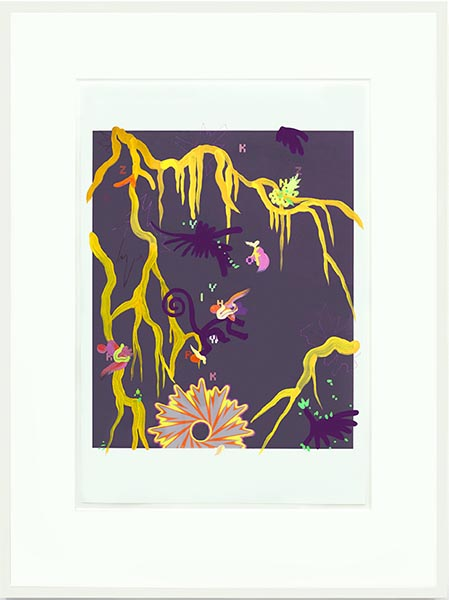 Fiona Rae, Untitled (hong kong garden), inkjet print with mixed media, 48.3 x 33cm, 2003. A unique work kindly donated by Dasha Shenkman.