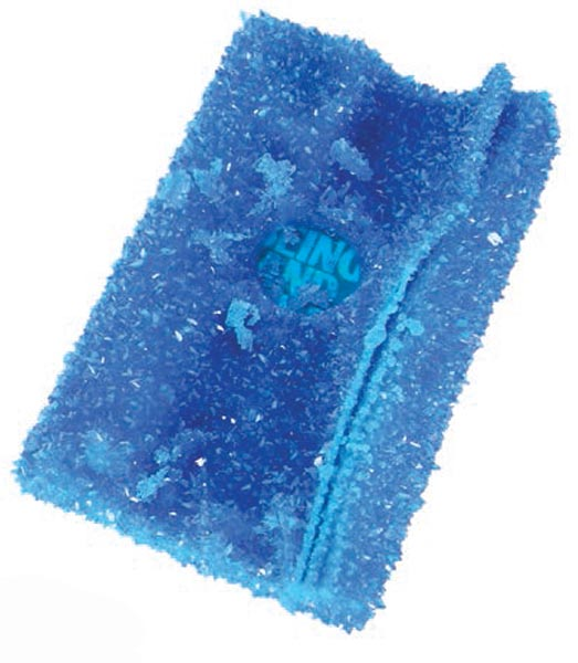 Roger Hiorns, Untitled, book and copper sulphate, approx. 24 x 15 x 4cm, 2014. A new work kindly donated by the artist.