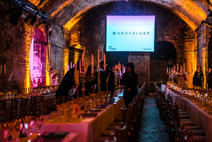 Contemporary Art Society's Annual Fundraiser WANDERLUST, held at The Old Vic Tunnels, Leake Street, London, 2013, photo: Joe Plommer