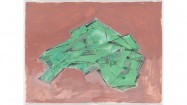 Phyllida Barlow, Untitled: Crushed Shape, 2011, drawing, acrylic on watercolour paper, 57 x 76cm, courtesy the artist and Hauser & Wirth Gallery