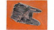 Phyllida Barlow, Untitled: Basel Structure, 2010. Drawing; acrylic on watercolour paper, 57 x 76cm. Courtesy the artist and Hauser & Wirth Gallery