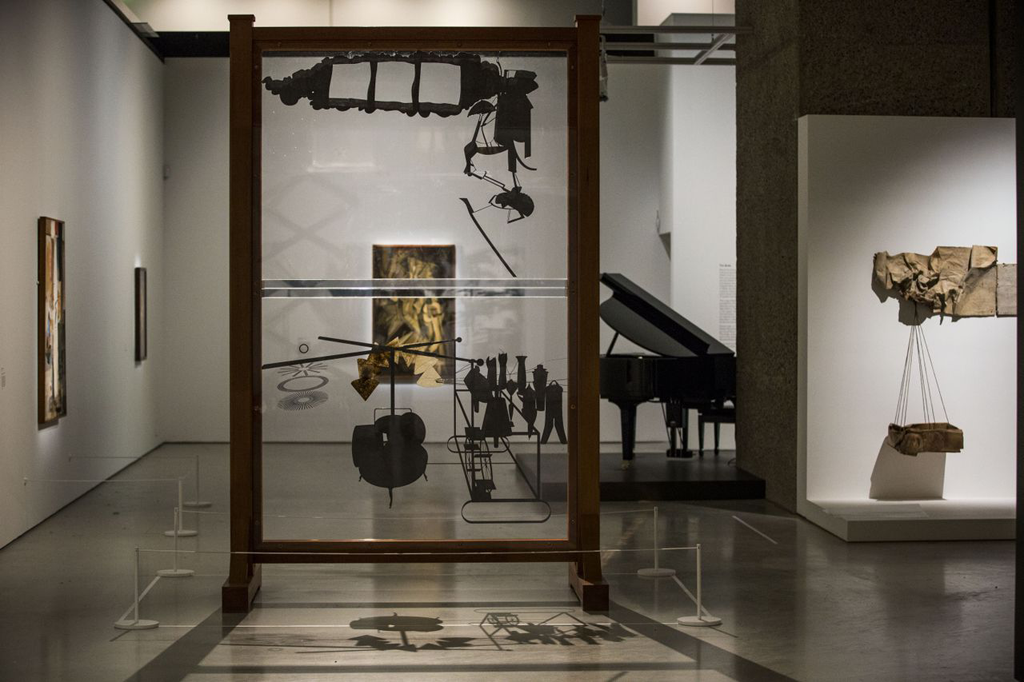 Image: The Bride and the Bachelors: Duchamp with Cage, Cunningham, Rauschenberg and Johns, installation shot. © Felix Clay 2013. Courtesy Barbican Art Gallery
