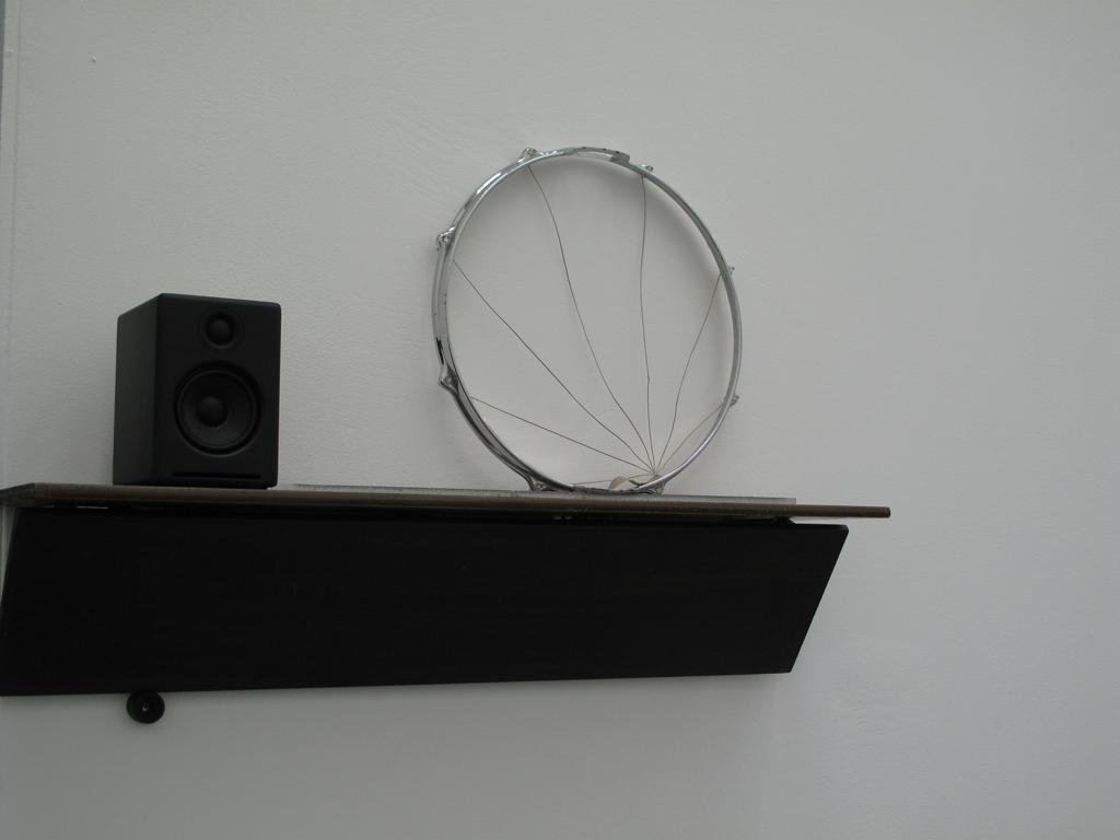 Image: Haroon Mirza, Installation view, /|/|/|/|/|/|/|/|/|/|/|/|/|/|/|/|, Spike Island (Jan-Mar 2012), Untitled Song featuring Untitled Works by James Clarkson, 2012 (detail). Courtesy the artist and Spike Island. Photo: Stuart Whipps