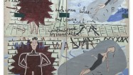 Rose Wylie, Getting Better with Water, 2011. Oil on canvas, 366 x 340 cm. Courtesy by the artist and UNION Gallery, London