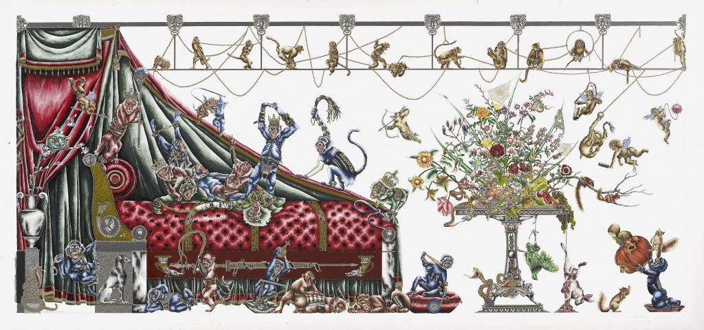 Image: Monkey King Boudoir I, Raqib Shaw. Courtesy the artist and Manchester Art Gallery