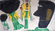 Rose Wylie, Queen of Sheba & JT, 2012. Oil on canvas, 182 x 342 cm. Courtesy by the artist and UNION Gallery, London