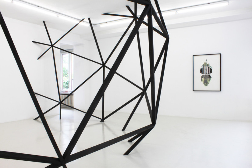 Certitude of Speculative Thought, installation view, Christinger De Mayo Gallery, Zürich, 2011. Site-specific installation: painted wood. Image courtesy the artist, © the artist