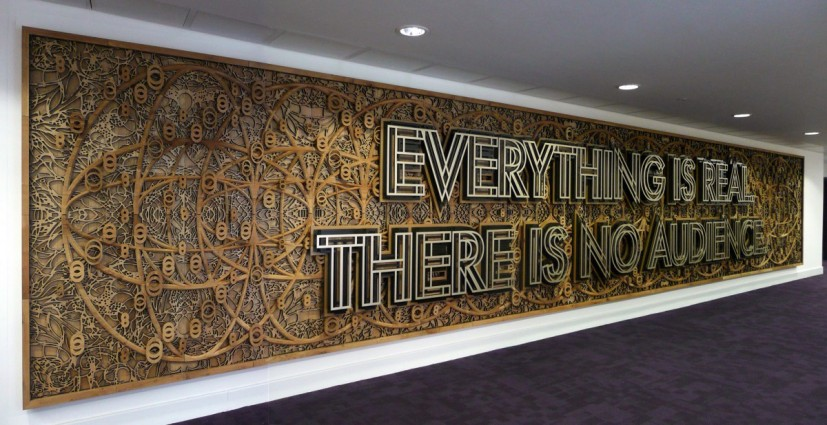 Everything Is Real, There Is No Audience, oak and metal, 2010. Installed at Warwick Art Centre. Commissioned by Warwick University. © the artist