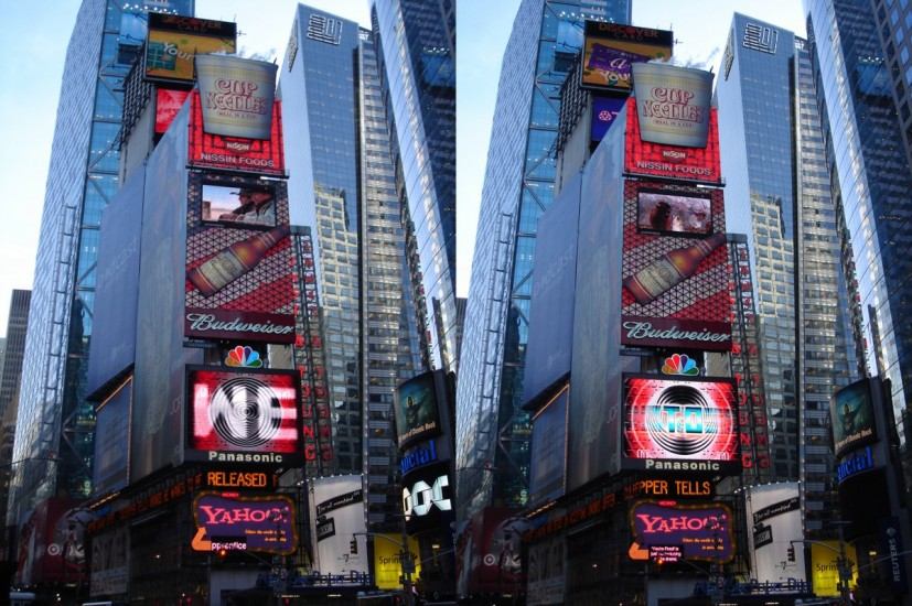 Voices You Cannot Hear Tell You What To Do, 2004-06. Installed at Times Square, New York. Creative Time 59th Minute commission. © the artist
