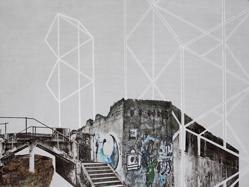Translocation.11, ink and pigment transfer on concrete board (fermacell) 60 x 80cm, 2013. Image courtesy the artist, © the artist