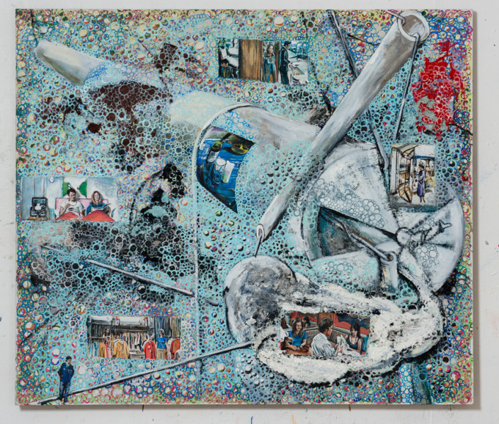 Transactions, oil and charcoal on linen. Image courtesy the artist, © the artist