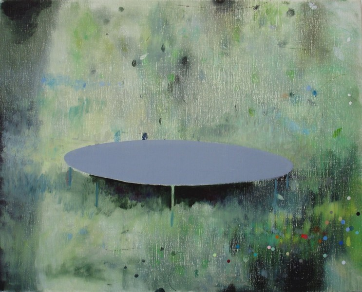 Trampoline, 2010, oil on canvas, 40 x 50cm. © the artist
