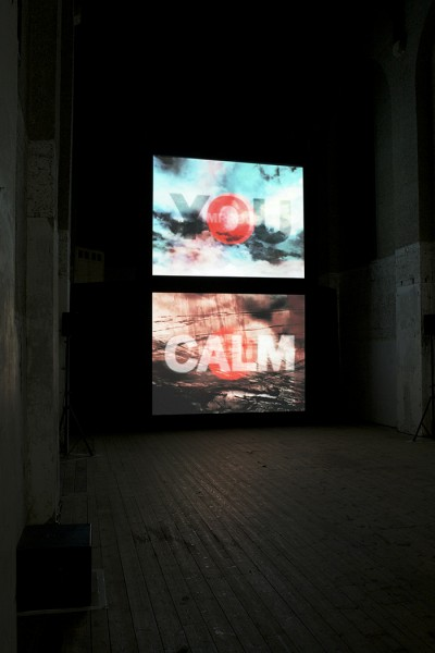 Rose, four channel video projection with surround sound, 2014. Sound by Grumbling Fur. Installed Dilston Grove, London. Image courtesy the artist, © the artist. Photo: Lucy Barriball