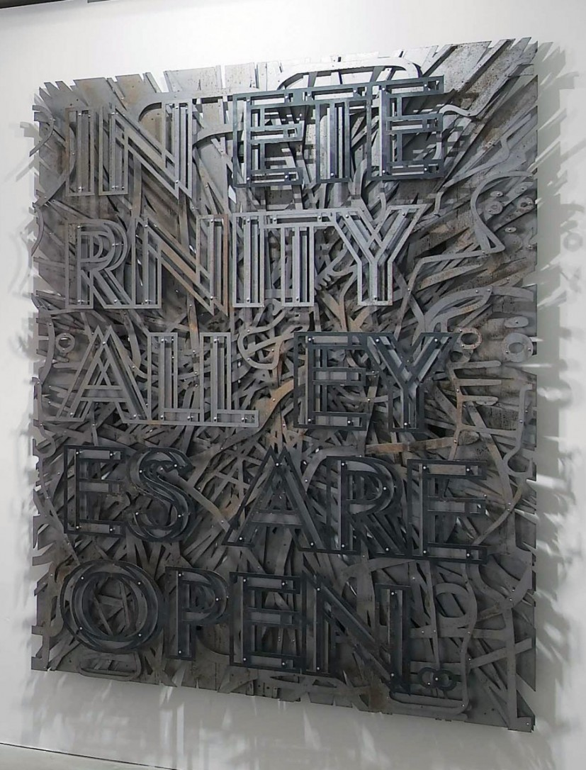 In Eternity All Eyes Are Open, 2013, steel and fixings. © the artist