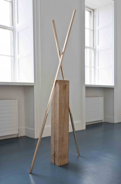 This Urban Silence I, 2011, oak, bronze, 220 x 80 x 17cm, © the artist