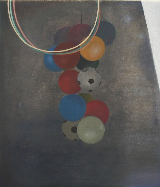 Hoops, 2011, oil on canvas, 40 x 35cm. © the artist