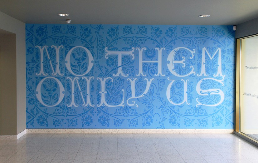 No Them Only Us, wall painting, 2015. Image courtesy the artist, © the artist