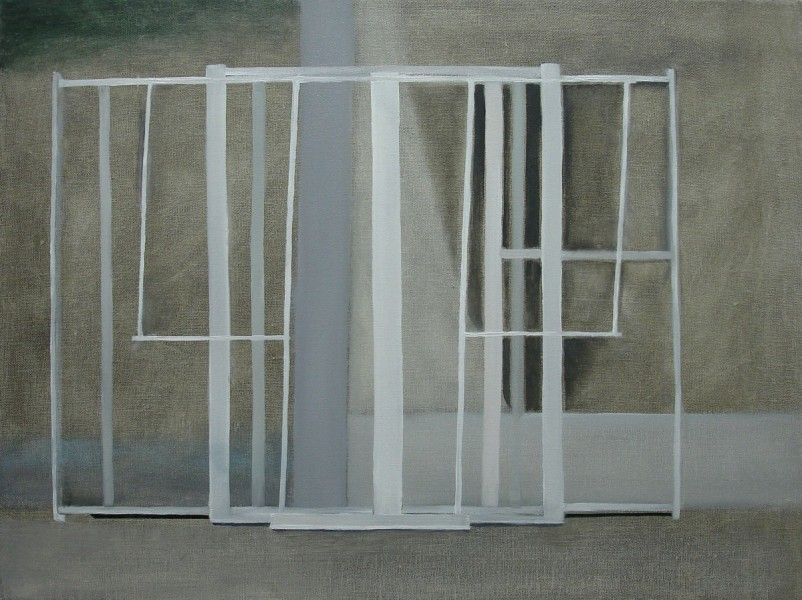 Window Frames, 2011, oil on canvas, 30 x 40cm. © the artist