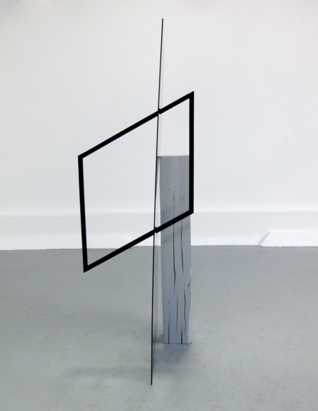 The Spectator, 2012, perspex, wood, paint, material, 170 x 70 x 140cm, © the artist