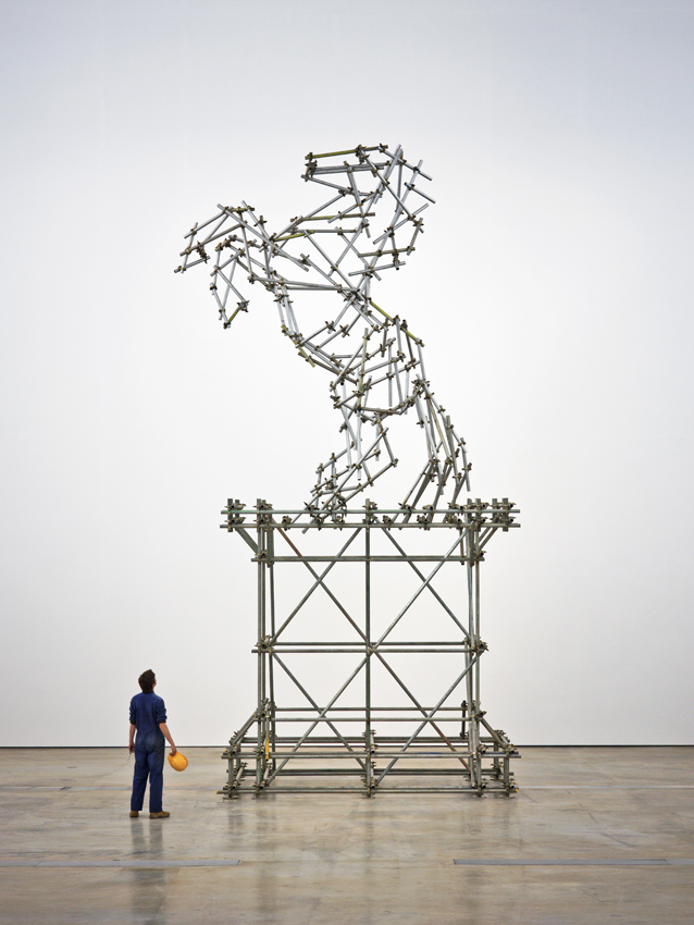 Horse Scaffolding Sculpture, 2013, scaffolding construction, 460 x 244 x 894cm, installation view, VISUAL Centre for Contemporary Art, Carlow, © the artist