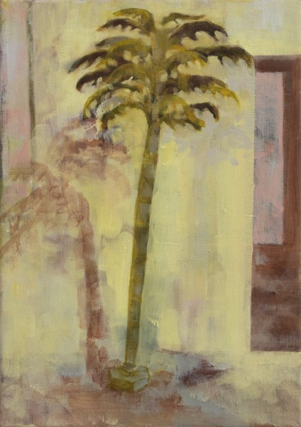 Cocteau's Palm, 2011, 35 x 25cm, oil on canvas, image courtesy the artist and Vane, © the artist