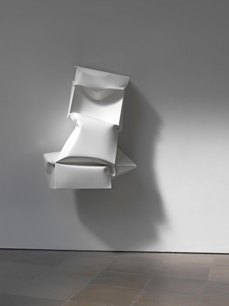Compressed VI (White), 2011, oil on aluminium, 122 x 70 x 60cm, image courtesy the artist and Lisson Gallery, London