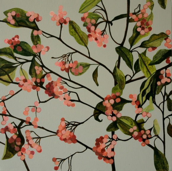 Cotoneaster, oil on canvas, 2013, © the artist