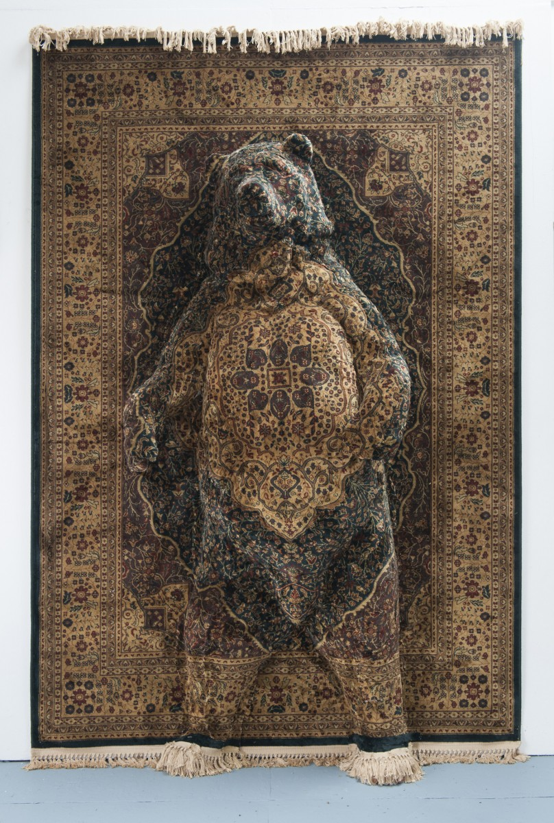 Persian Bear, 238 x 160 x 40cm, carpet and mixed media, 2013, photo James Royall, © the artist