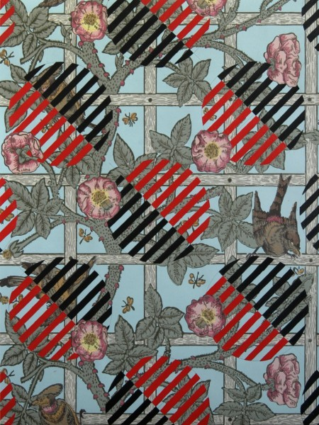 'Drawing' for Luibov Popova – Untitled Textile Design on William Morris Wallpaper for Historical Materialism, 51 x 67cm, 2010