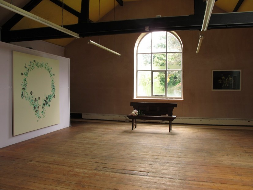Fontus's Posie, installation view at St Mary's Parish Rooms 'Attic', Wirksworth. Commissioned by Wirksworth Festival 2013, curated by Rose Lejeune.© the artist