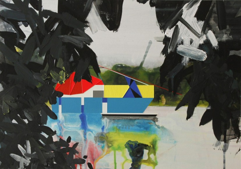 Houseboat 1, 2013, acrylic on paper, 48 x 32cm. Image courtesy the artist, © the artist
