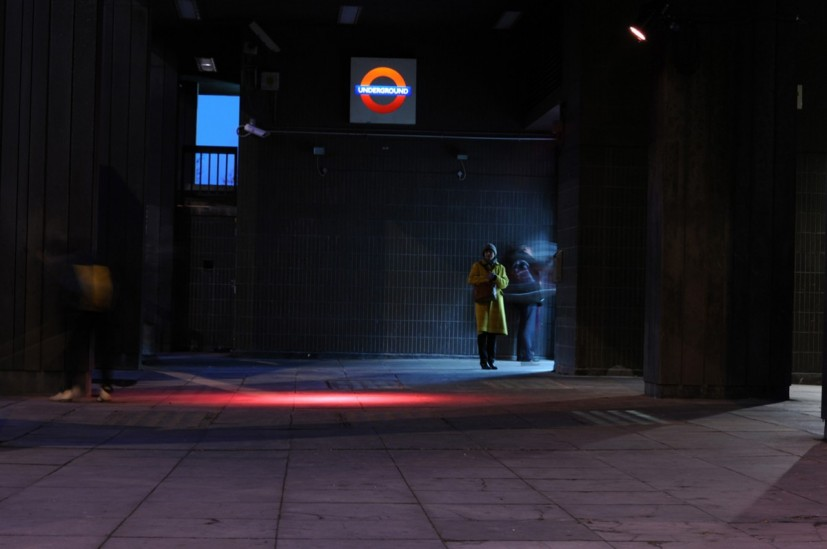 Trip Light, temporary light installation in Archway part of Alight, commissioned by Byam Shaw School of Art and Islington Borough Council, supported by Transport for London, 2010 © the artist