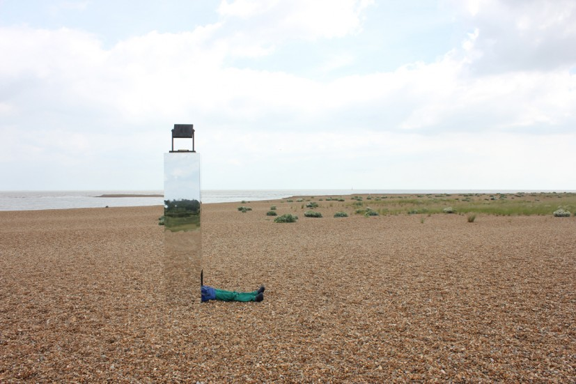 World Turned Upside Down, from East to East: from Aldeburgh Beach to Landguard Point Waterfront Gallery, Ipswich, 2013 © the artist