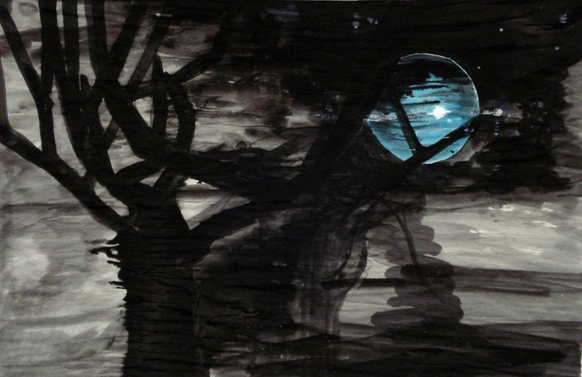 Moonlight, 2010, ink on paper © the artist
