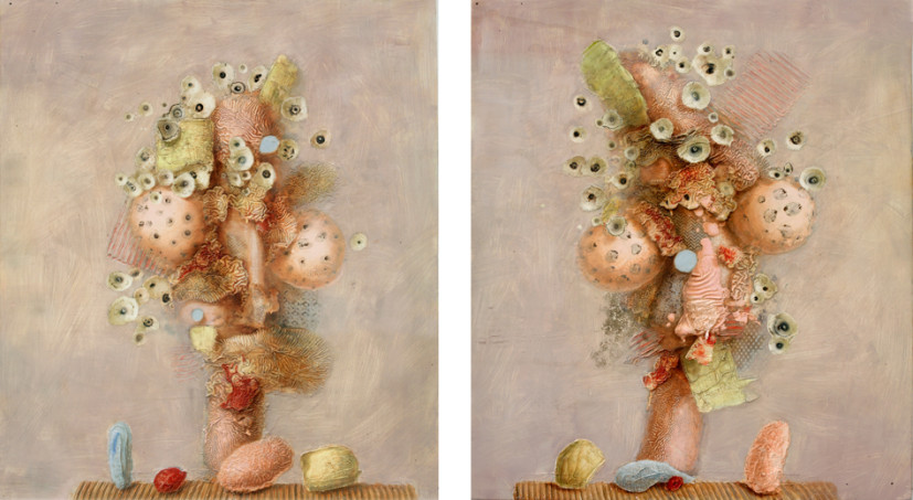 Pink & Pert, 90 x 103cm (each), 2015. Image courtesy the artist and Feldbusch Wiesner Gallery, Berlin.