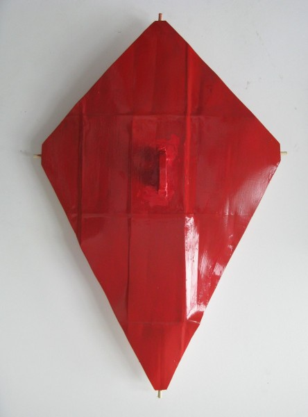 Red Kite, 2014, cast plaster, paint and wood, 94 x 62.5 x 13.5cm, image courtesy the artist, © the artist