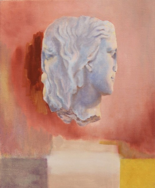 With a shake of the head, oil on linen, 56 x 68cm, 2012, image courtesy the artist and Vane, © the artist
