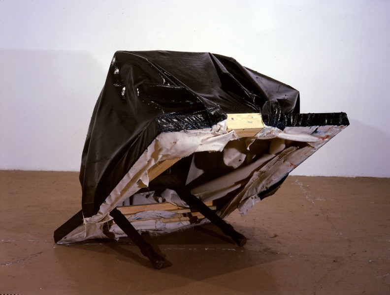 Still Life (Table), 2000, oil on canvas and wooden table, 106 x 110 x 125cm, image courtesy the artist and Lisson Gallery, London