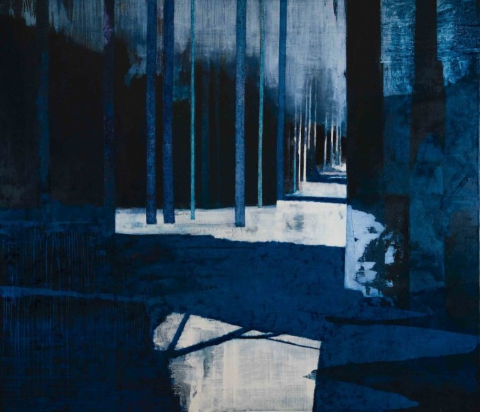 Tarn Trees, oil on canvas, 183 x 213cm,  2014. Image courtesy the artist, © the artist