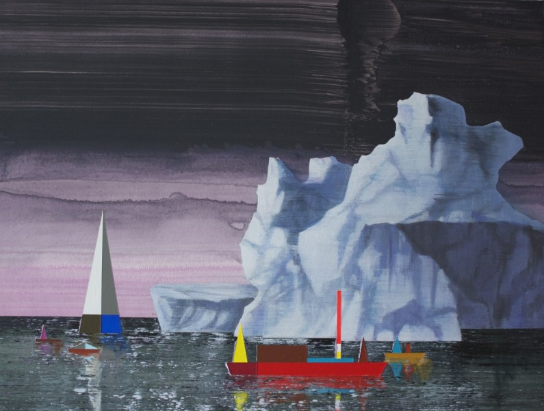 The Ice Islands, 2014, acrylic on paper, 31 x 41cm. Image courtesy the artist, © the artist
