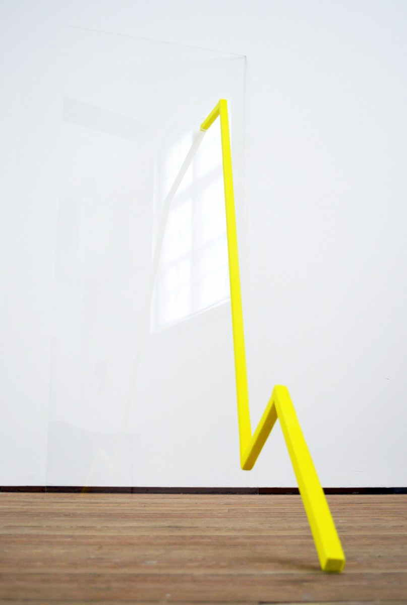 The Tenant, 2012, perspex, wood, material, 170 x 70 x 126cm, © the artist