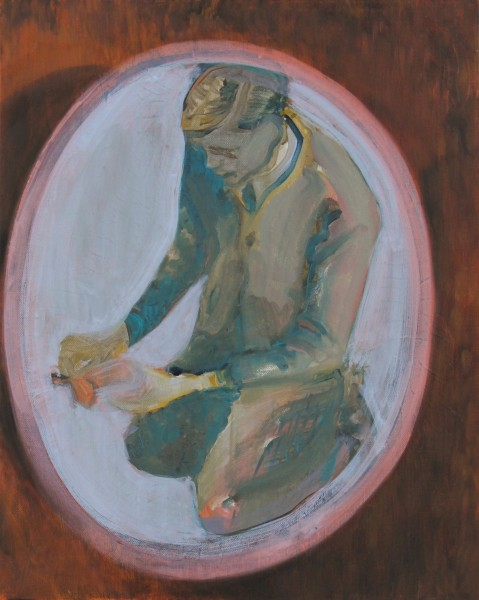 Untitled (withYSL), oil on canvas, 45.5 x 35.5cm, 2011, image courtesy the artist and Vane, © the artist