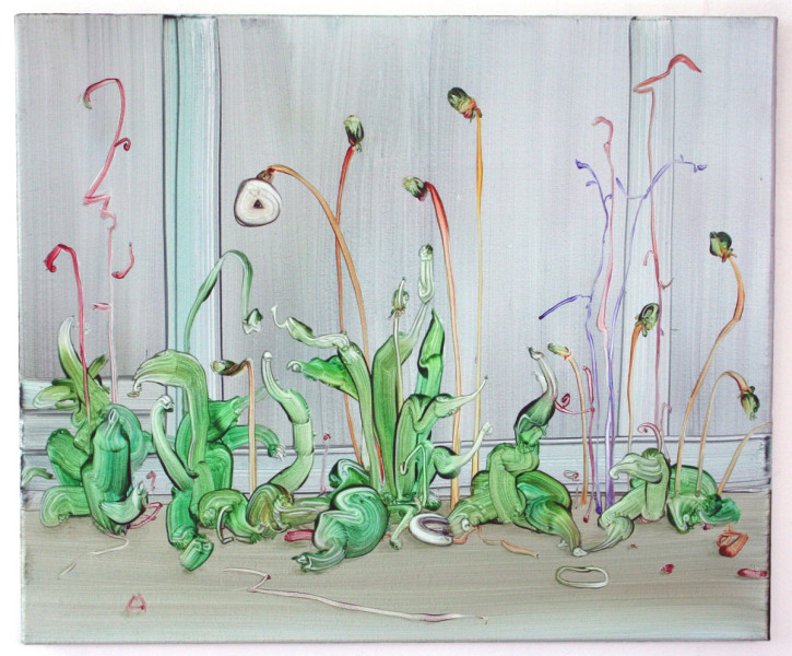 Weeds (Studio Building), oil on canvas, 50 x 60cm, 2013. Image courtesy the artist, © the artist
