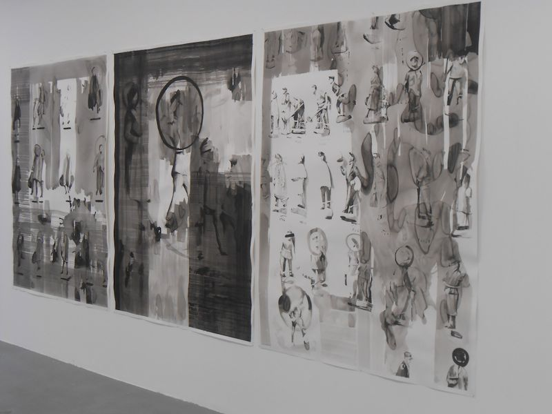 Selected Outcomes, acrylic on paper, 290 x 140cm each, 2013. Image courtesy the artist, © the artist
