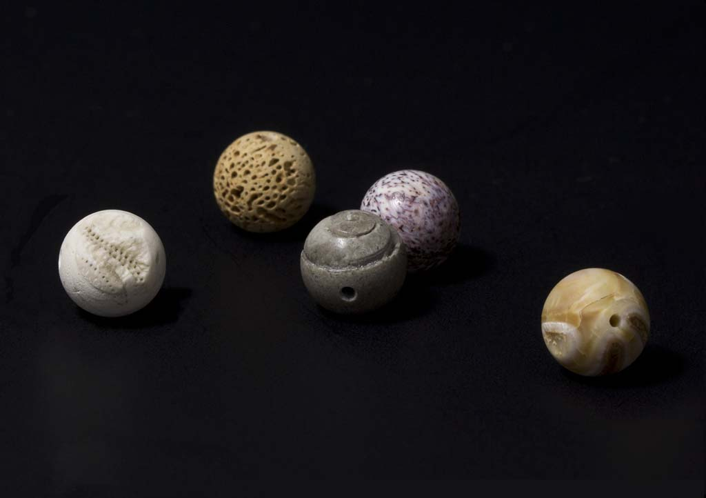 Image: Katie Paterson, Fossil Beads, 2013. Copyright MJC 2013, courtesy the artist and Kettle's Yard