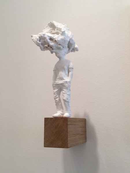 Male Figure (iii), plaster, approx. height 35cm, 2015. Image courtesy the artist, © the artist