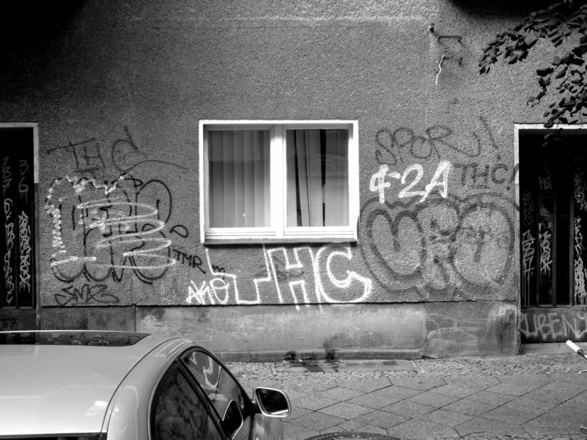 THC Berlin, one of many THC graffiti's on streets of Berlin. photo © the artist